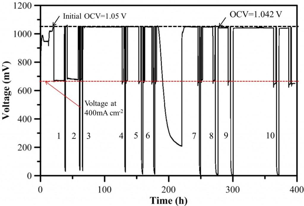 圖2. 耐氧化/還原實驗結果。